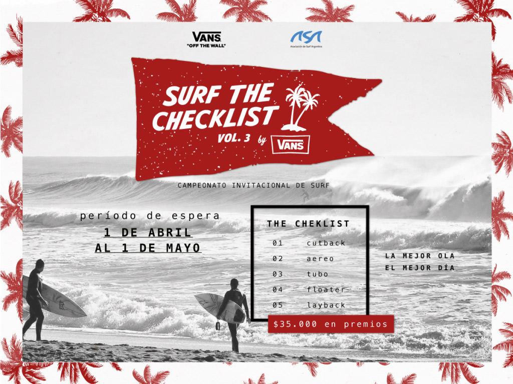 Surf the checklist