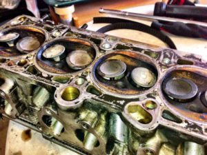 Bent Valves In Interference Engine