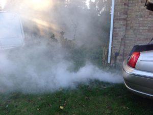 Blue Tailpipe Smoke