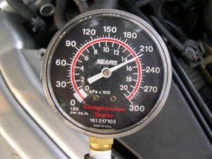 Engine Compression Gauge Showing High Compression