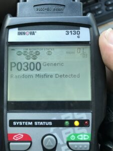 P0300 Random Misfire Code Displayed On Code Reader