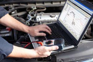 Sensors send signals to the (MCU)