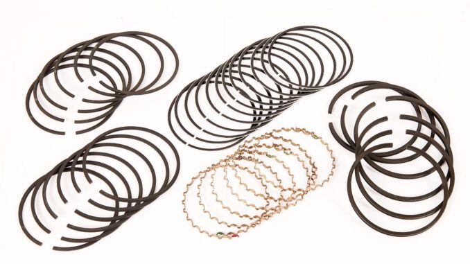 Piston rings come in sets for each piston.