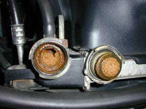 Radiator And Cap With Rust Contamination