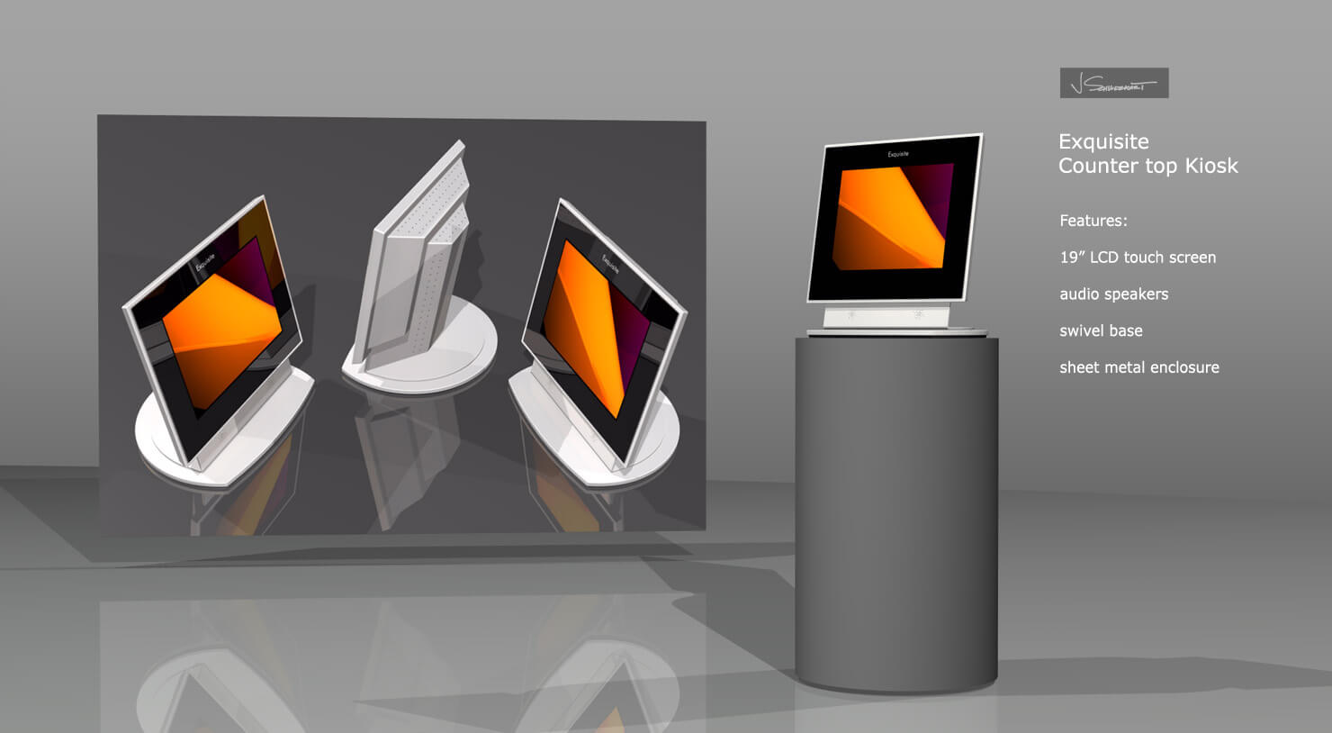 Exquisite Countertop Kiosk Designed by Industrial Designer Jer Schweickart
