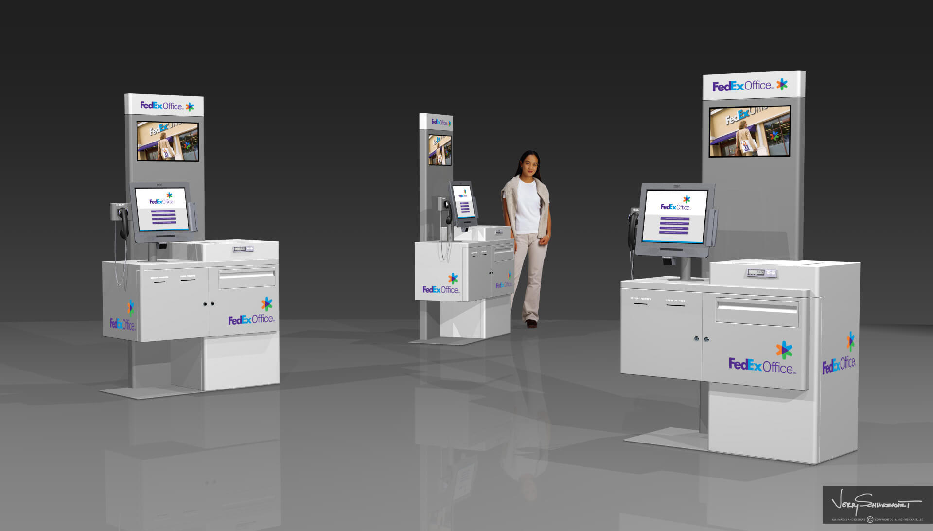 FedEx Shipping Kiosk Designed by Industrial Designer Jer Schweickart