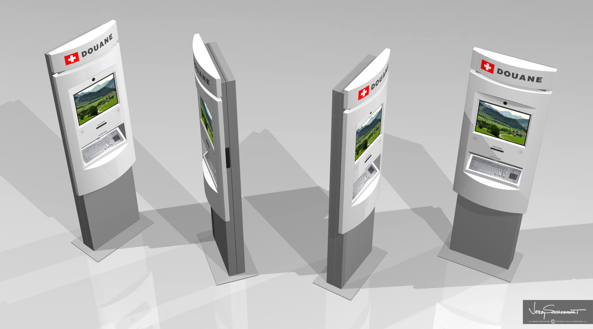 Swiss Customs Kiosk designed by Industrial Designer Jer Schweickart