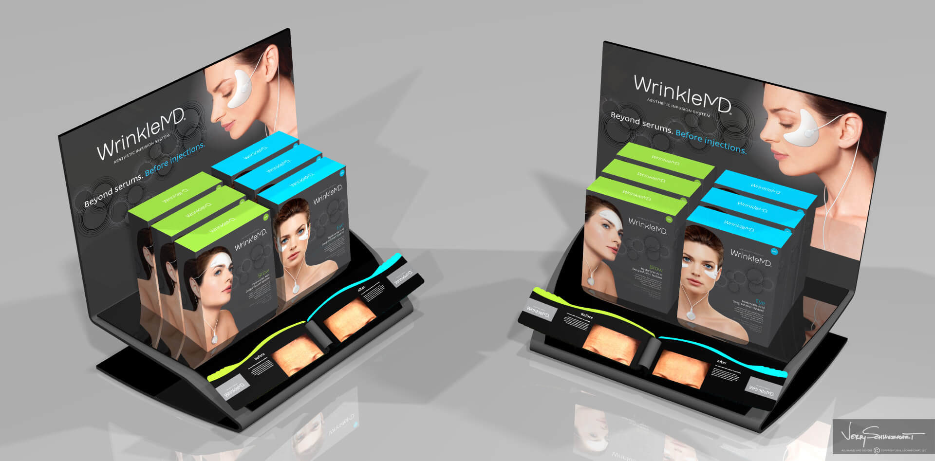 Wrinkle MD Countertop Point of Purchase Display Designed by Industrial Designer Jer Schweickart