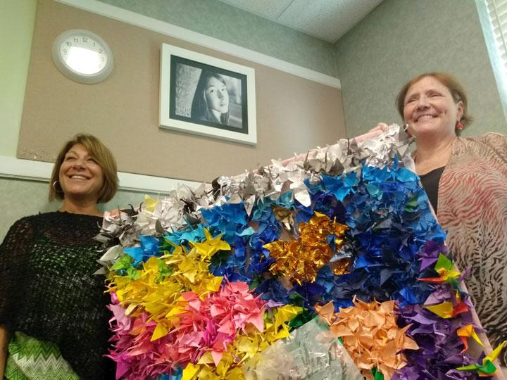 Maren's magic comes through in 1,000 paper cranes