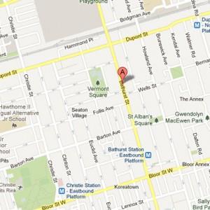 Map of 1008 Bathurst Street