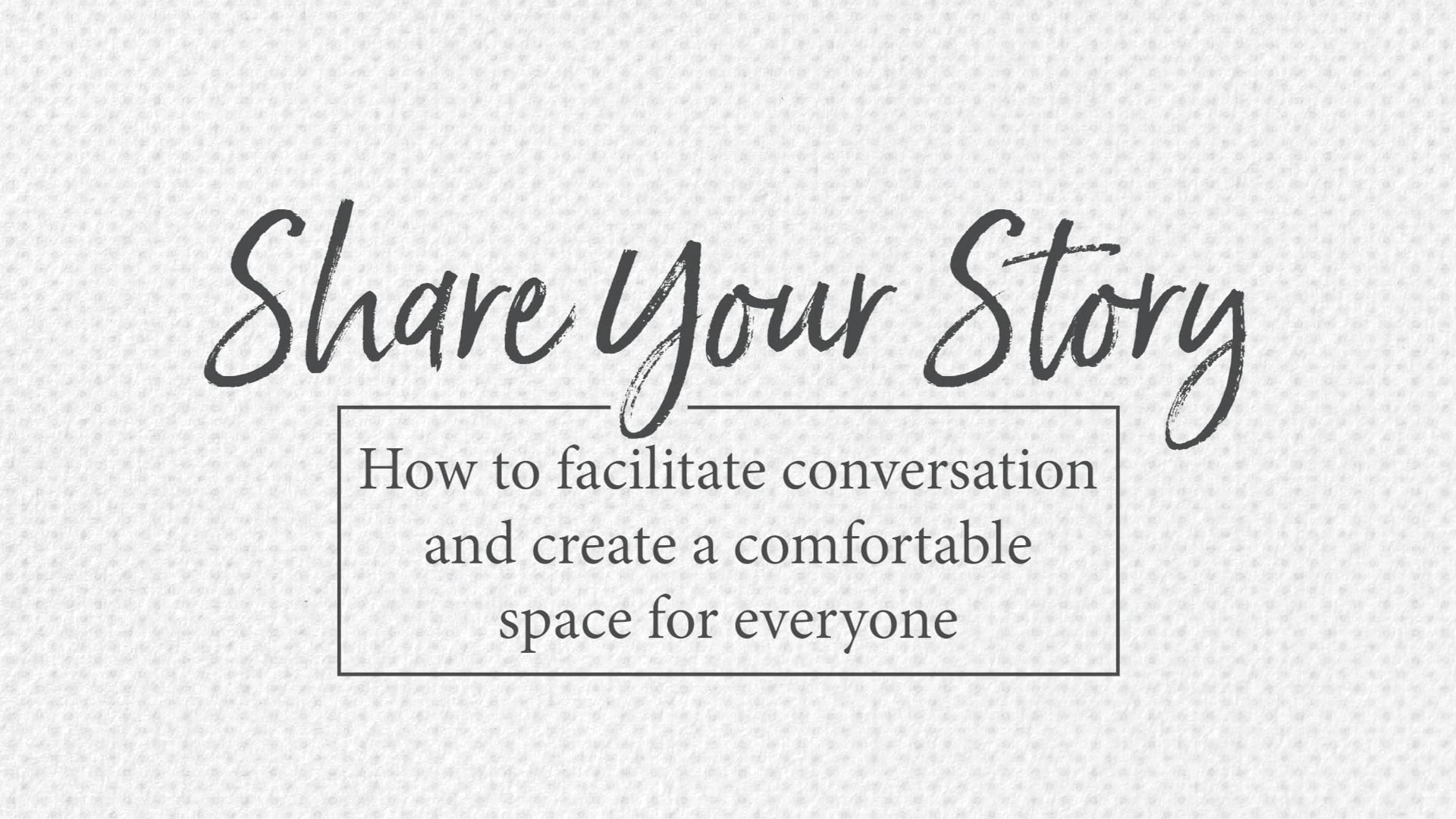 How to Facilitate Conversation