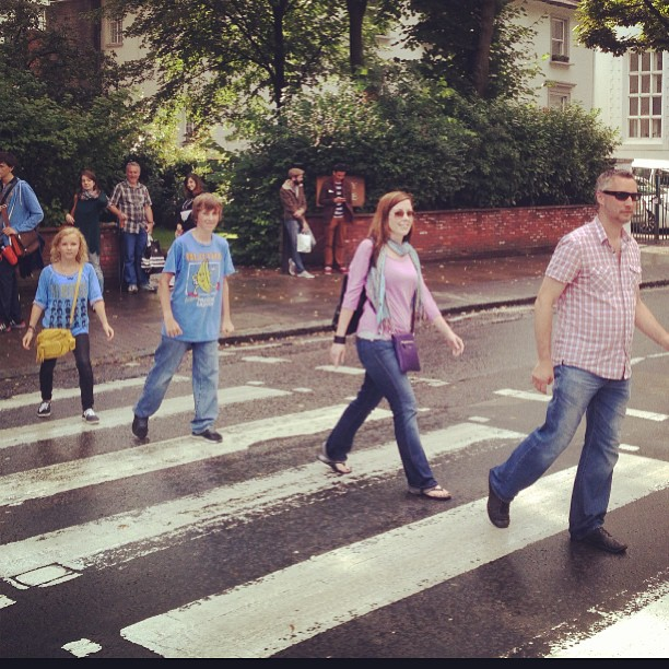But how could I not check in at Abbey Road on Facebook and Instagram a pic of us crossing it?