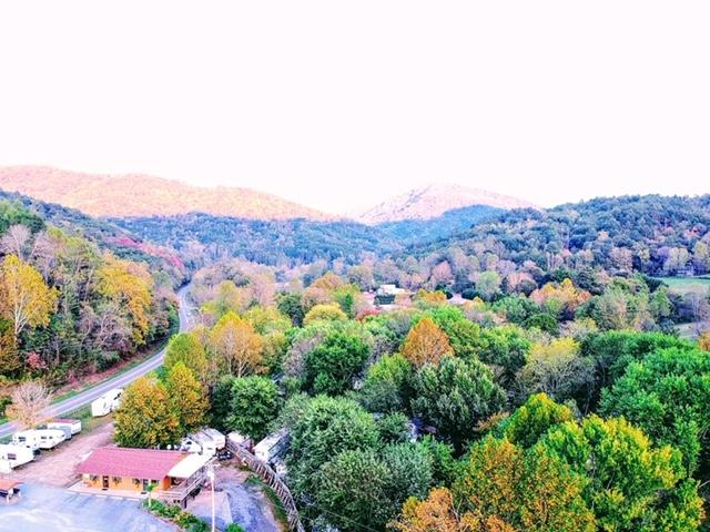 Aerial view of Cullasaja River RV Park