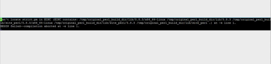 Perl Script Error