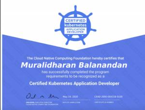 CKAD Certificate Credential