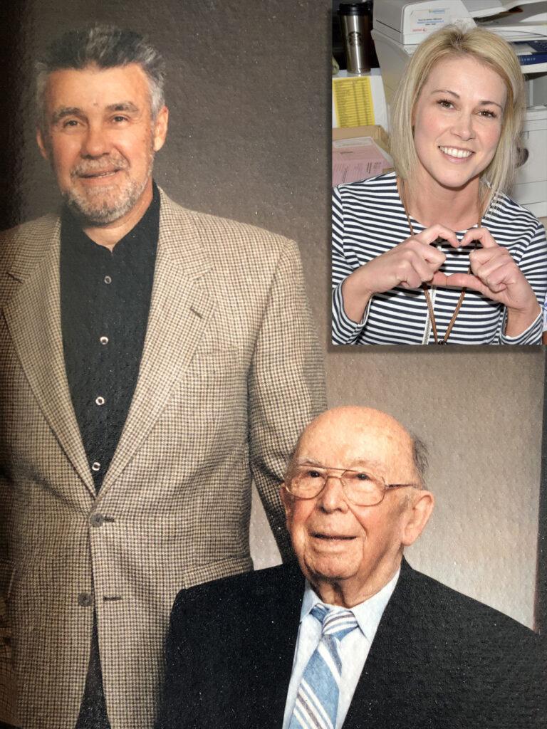 Ron Vincelli with his father, Jack Vincelli circa 2001 and Jennifer Wilson, Assistant Head Nurse.