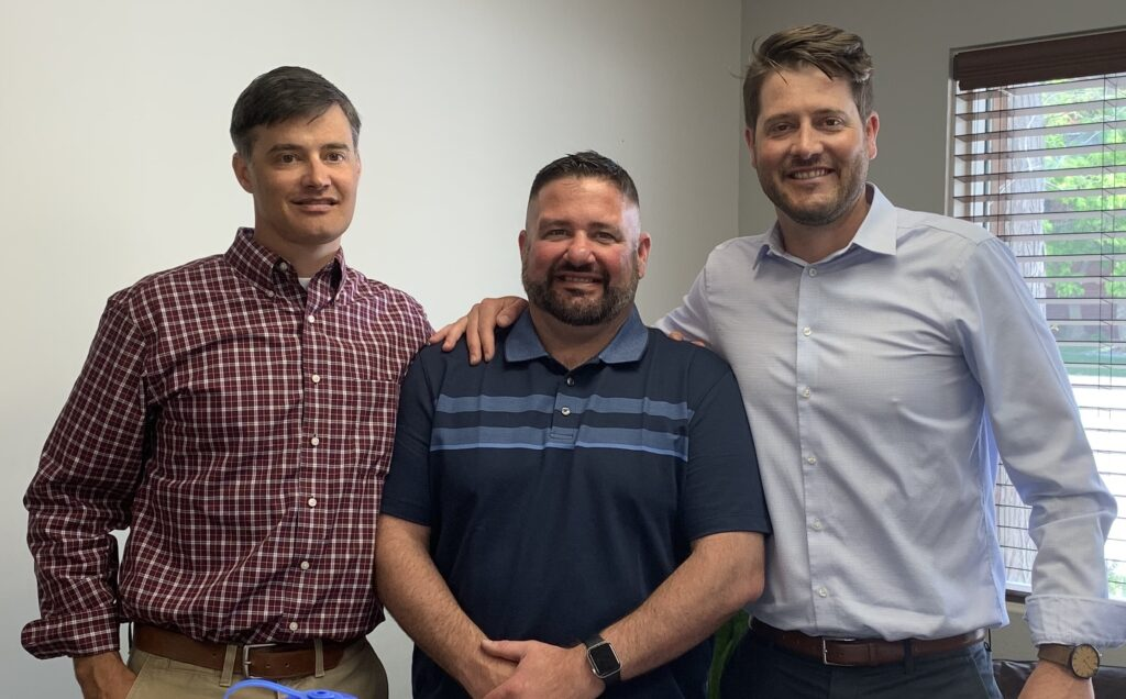 Adam Jung, COO (left), Jared Jung, CEO (middle), Mathias Jung, CFO (right) - the brothers who founded JB Engineers