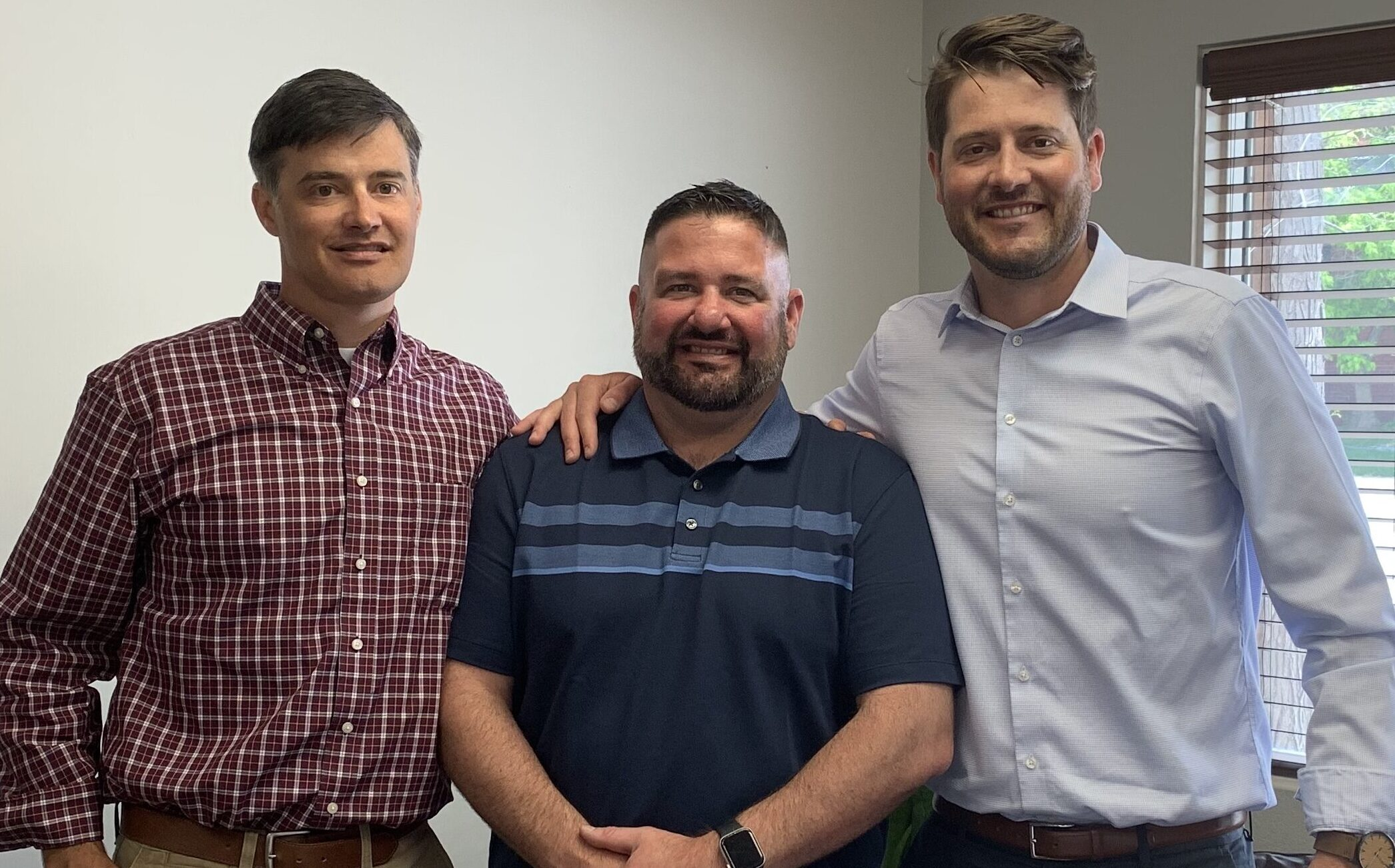 The three brothers who founded JB Engineers: Adam Jung (left), Jared Jung (middle), Mathias Jung (right)