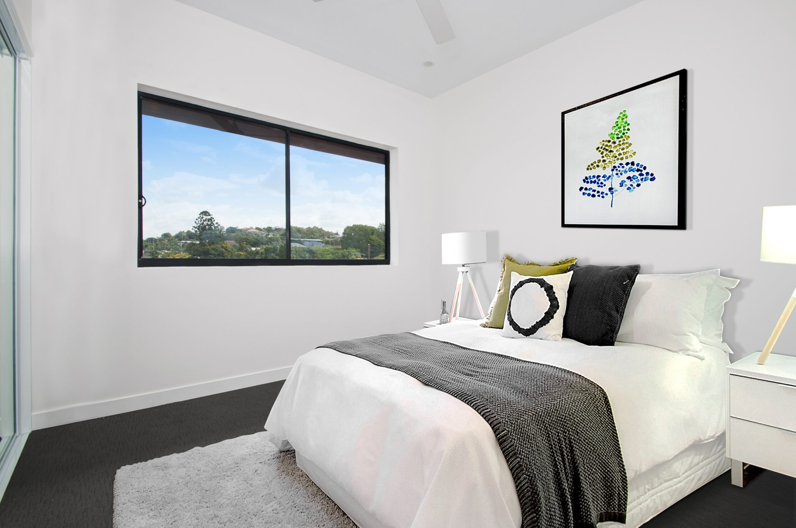 how to stage a small bedroom