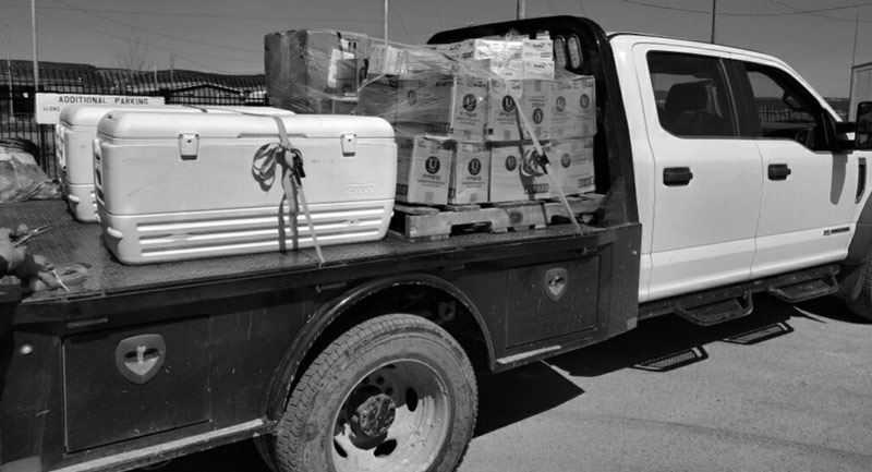 Delivery of period supplies to Shiprock, NM