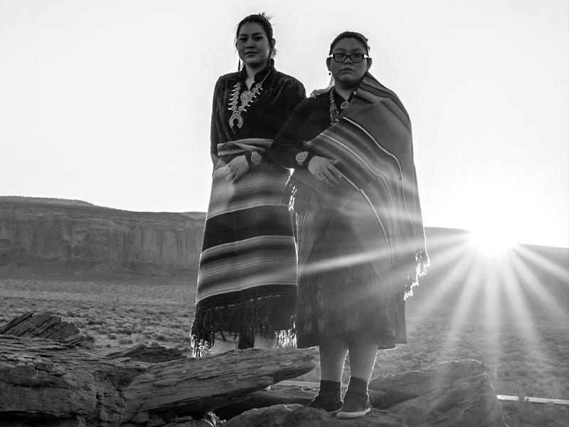 Native American Girls at Sunrise