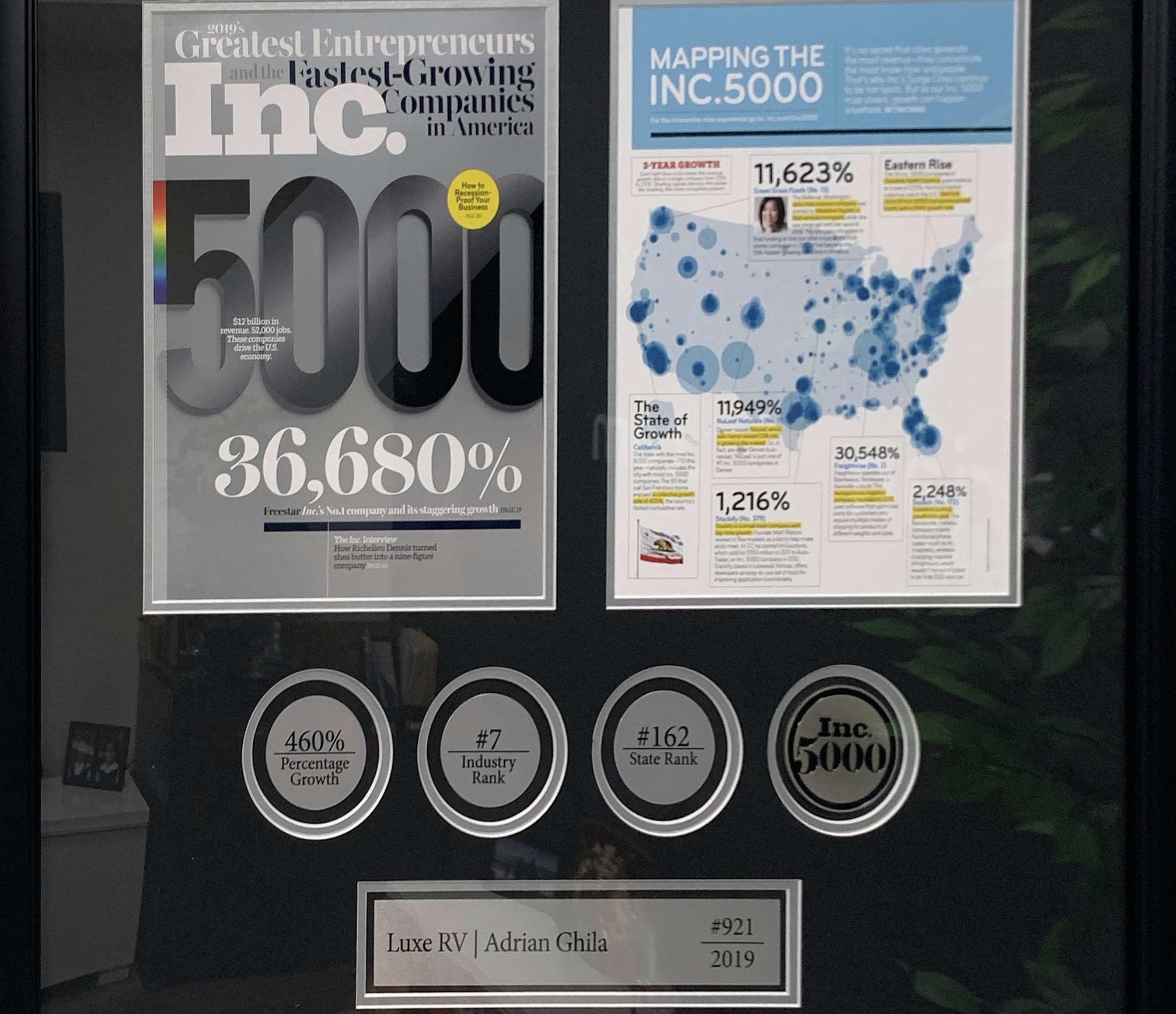 Inc 5000 Luxe RV