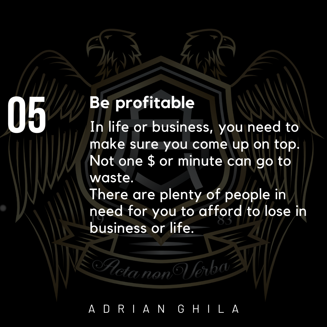 Adrian Ghila Be Profitable in Business