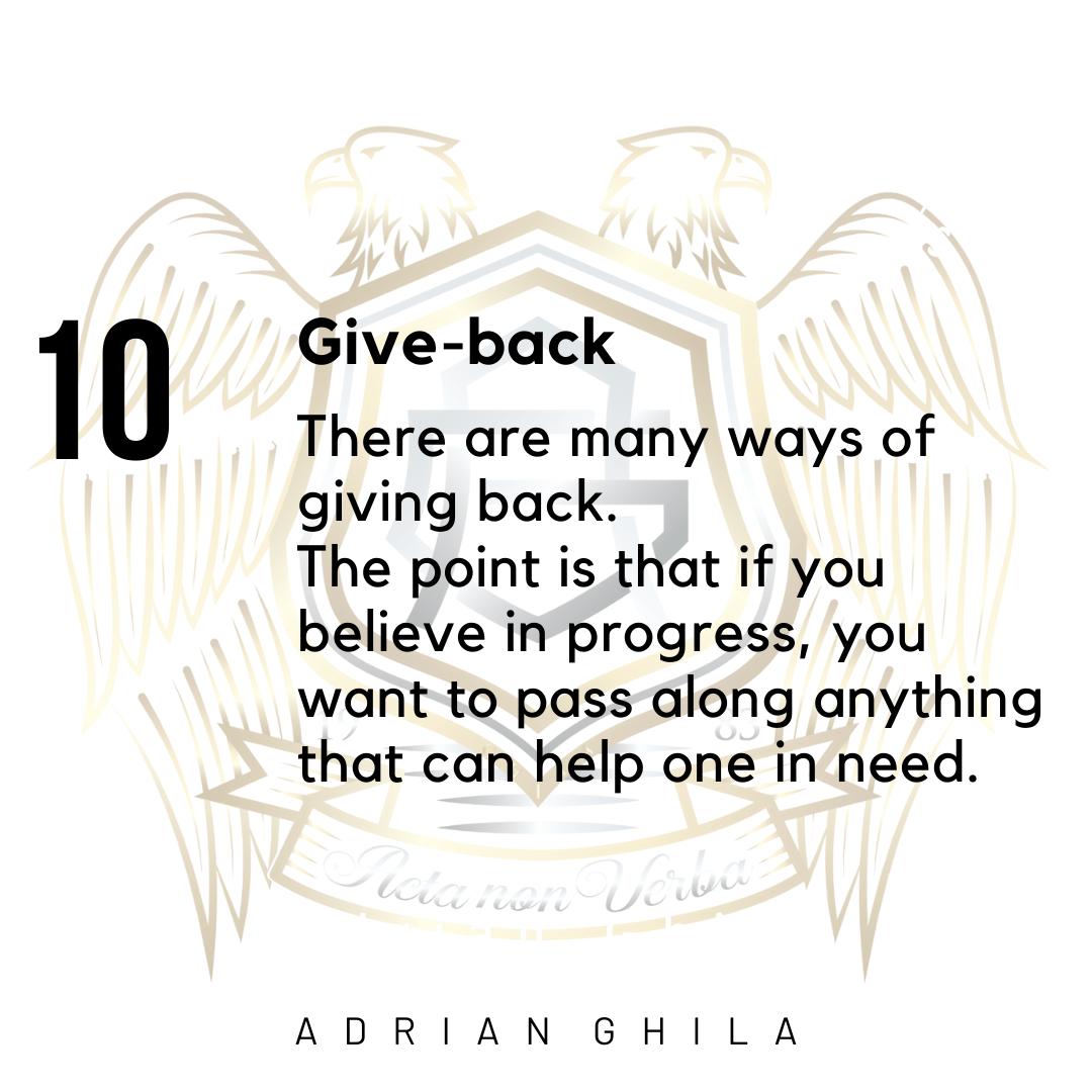 Adrian Ghila Give Back