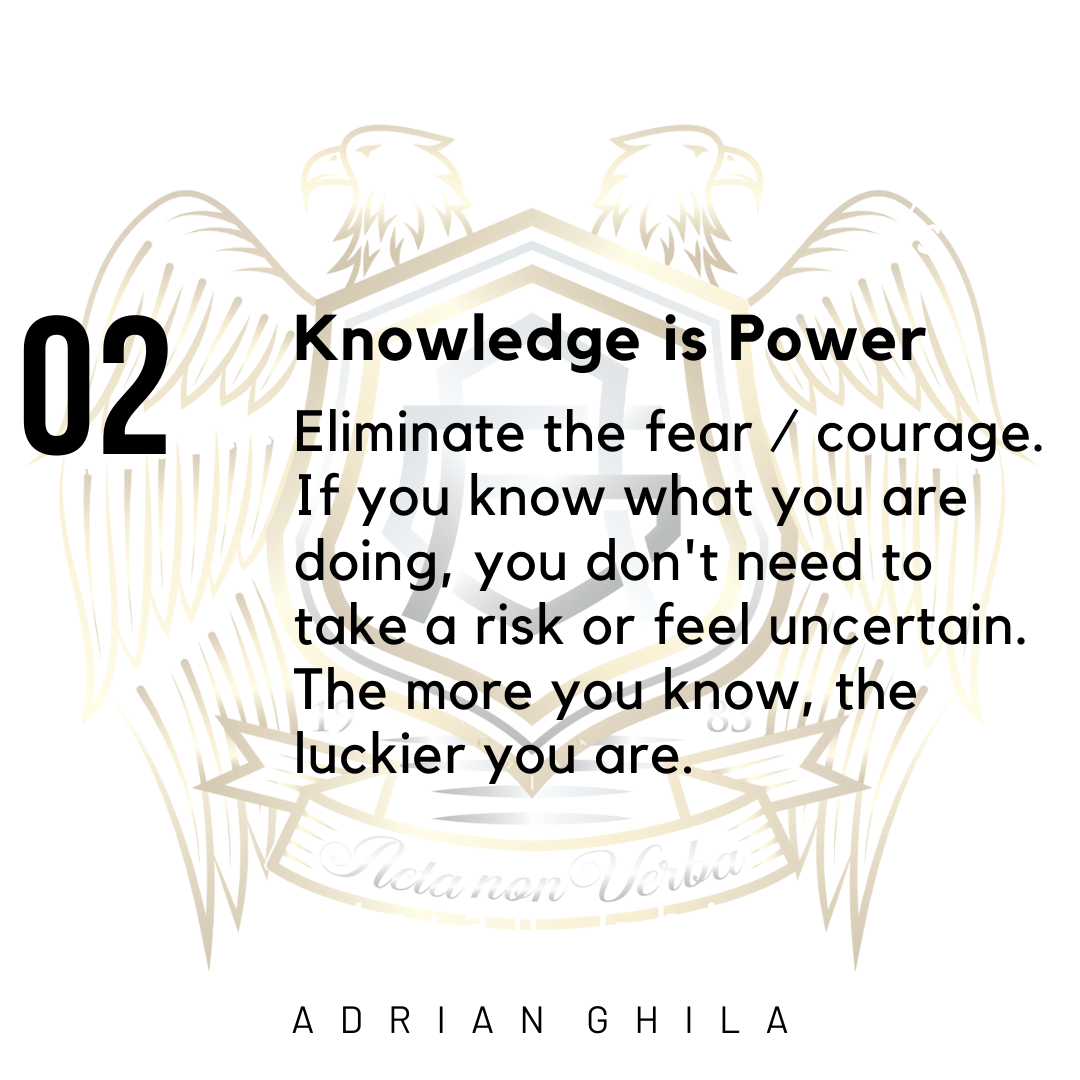 Adrian Ghila Knowledge is power