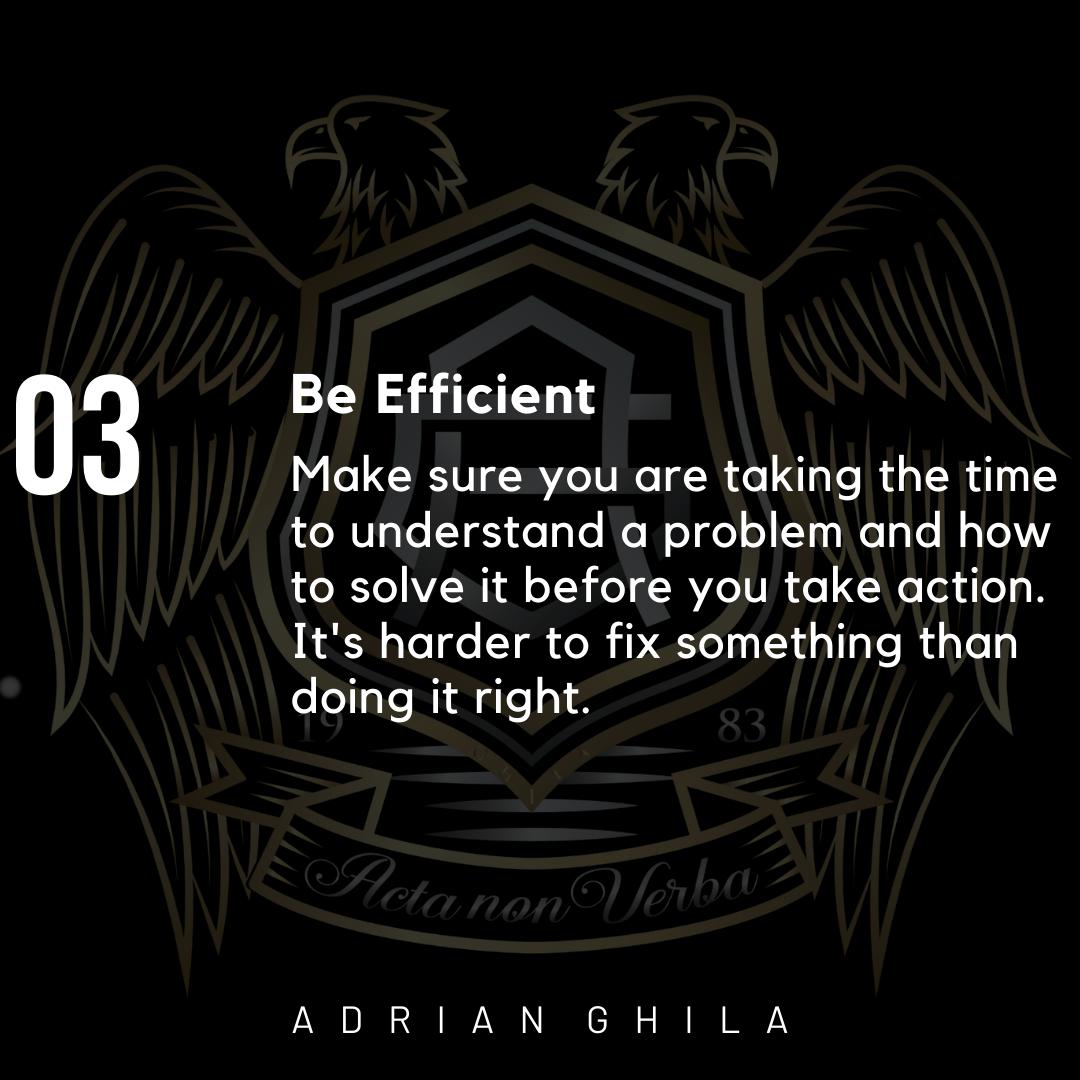 Adrian Ghila BE EFFICIENT