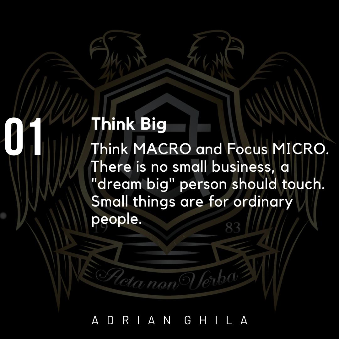 Adrian Ghila THINK BIG