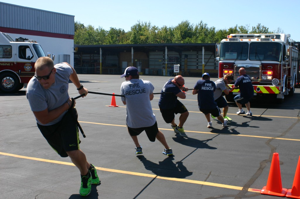 North Amherst team pulling at E-ONE Truck Pull