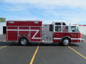 Bay Village, Ohio Fire Department Stainless Steel Pumper - Officer Side