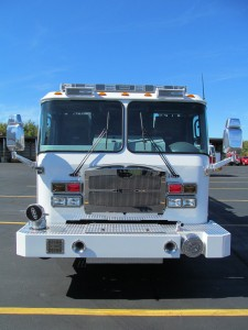 Foxborough, MA Fire Department - Stainless Steel Side Mount Pumper - Front View