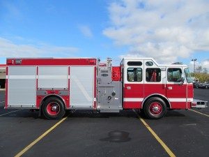 North Amherst Fire Co. - Stainless Steel Side-Mount Pumper - Officer Side
