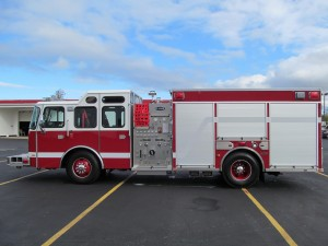 North Amherst Fire Co. - Stainless Steel Side-Mount Pumper - Driver Side