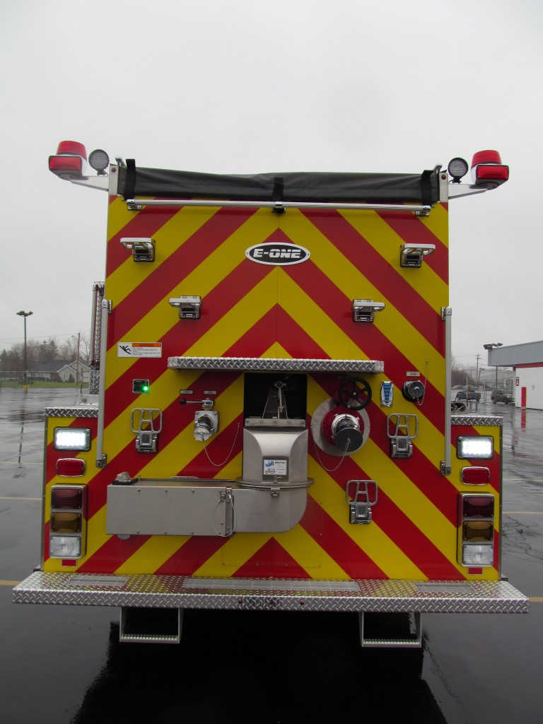 Hartsgrove TWP Fire Dept. Stainless E-ONE Pumper-Tanker - Rear View