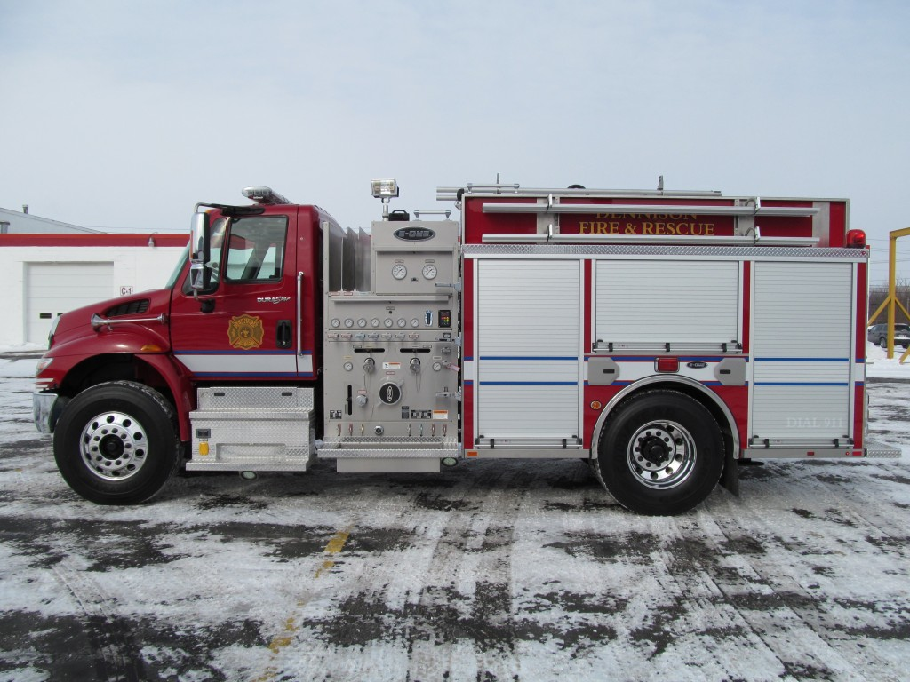 Dennison, OH Fire Department's Stainless E-ONE Pumper - Driver side