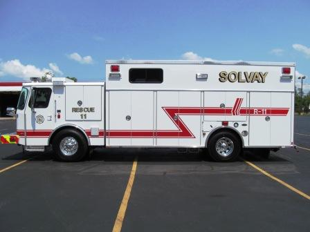 E-ONE Stainless Steel Rescue Solvay, NY- Driver SIde