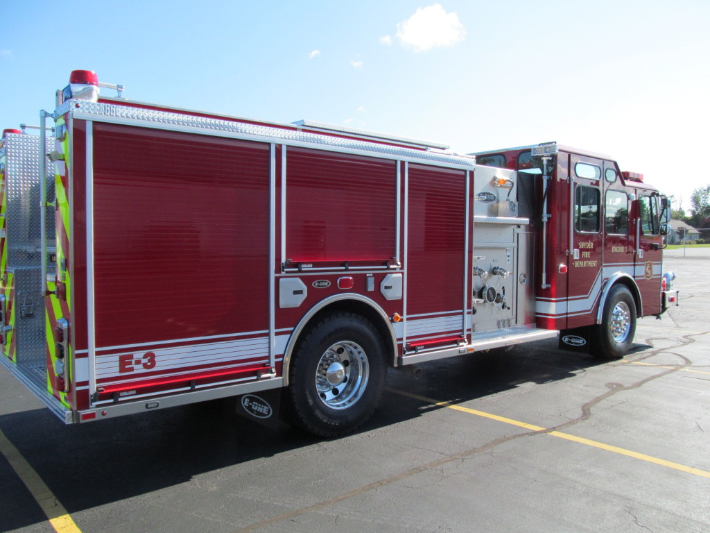 E-ONE Stainless Pumper for Snyder Fire District - Officer side