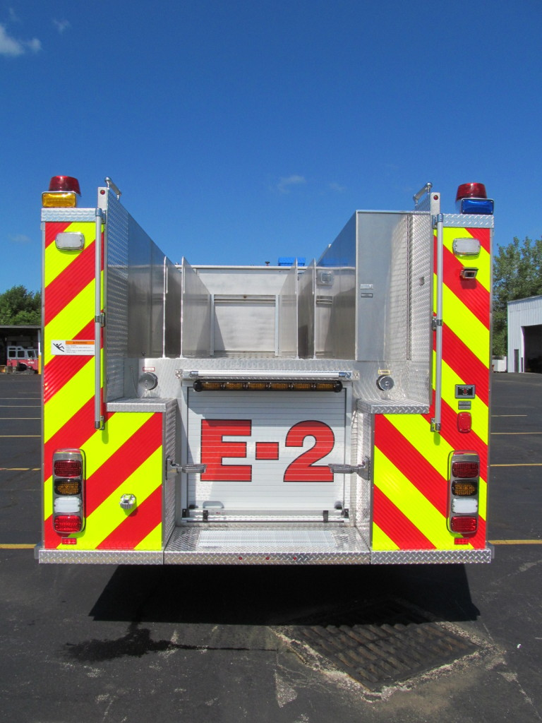 E-ONE Stainless Pumper for Snyder Fire District - Back