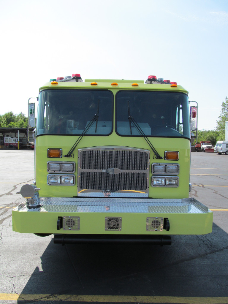 E-ONE Stainless Pumpers for City of Chicago - front view