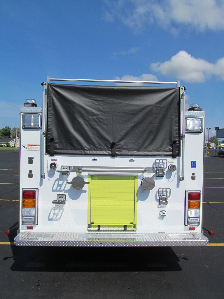 E-ONE Stainless Pumpers for City of Chicago - rear view