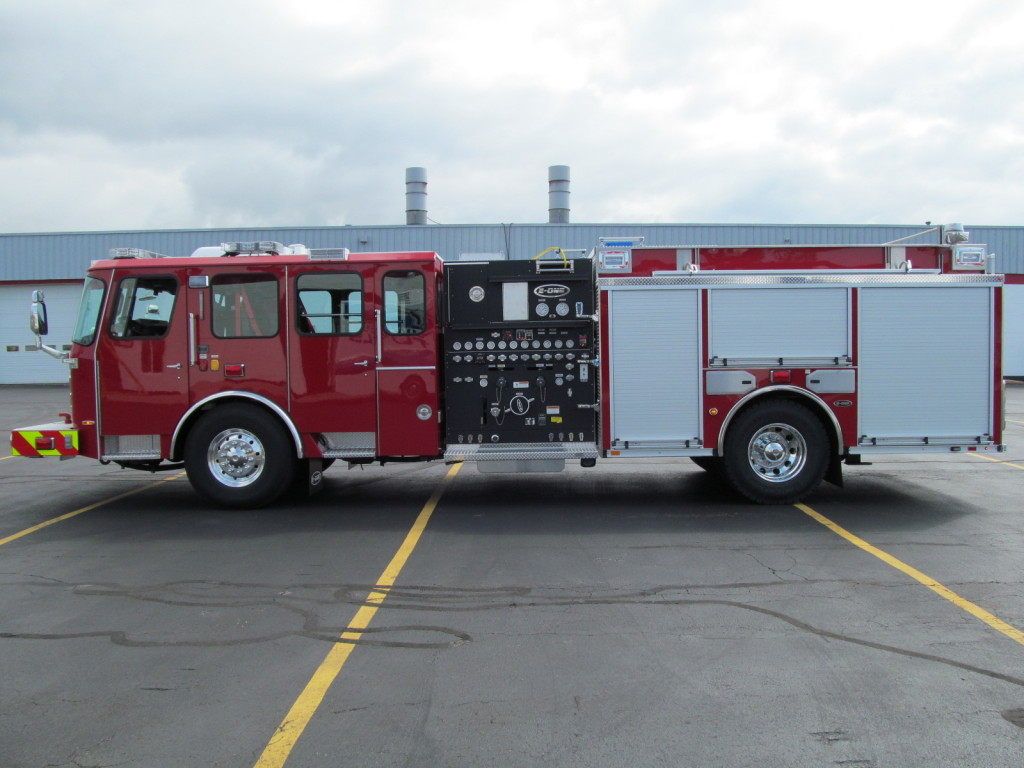 E-ONE Stainless Side Mount Pumper - Driver Side