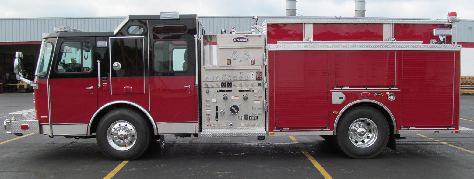 E-ONE Stainless Side-Mount Pumper