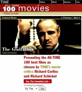 Time magazine best films