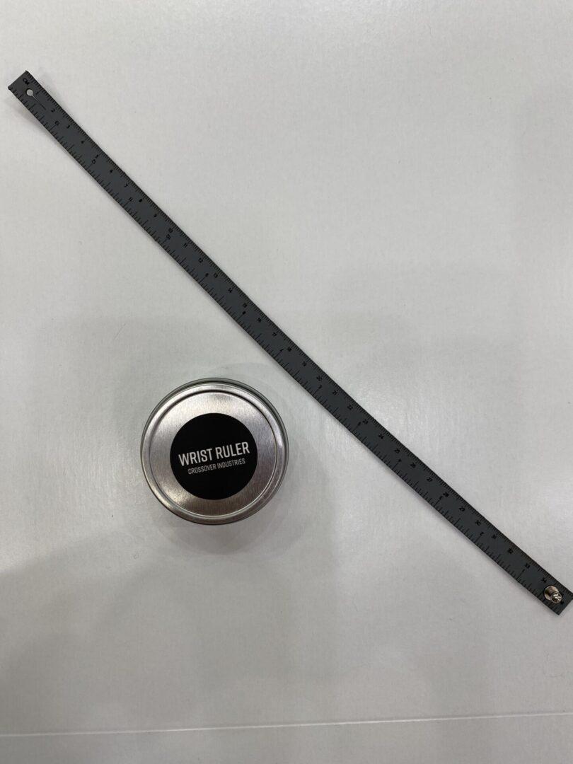 A leather wrist ruler