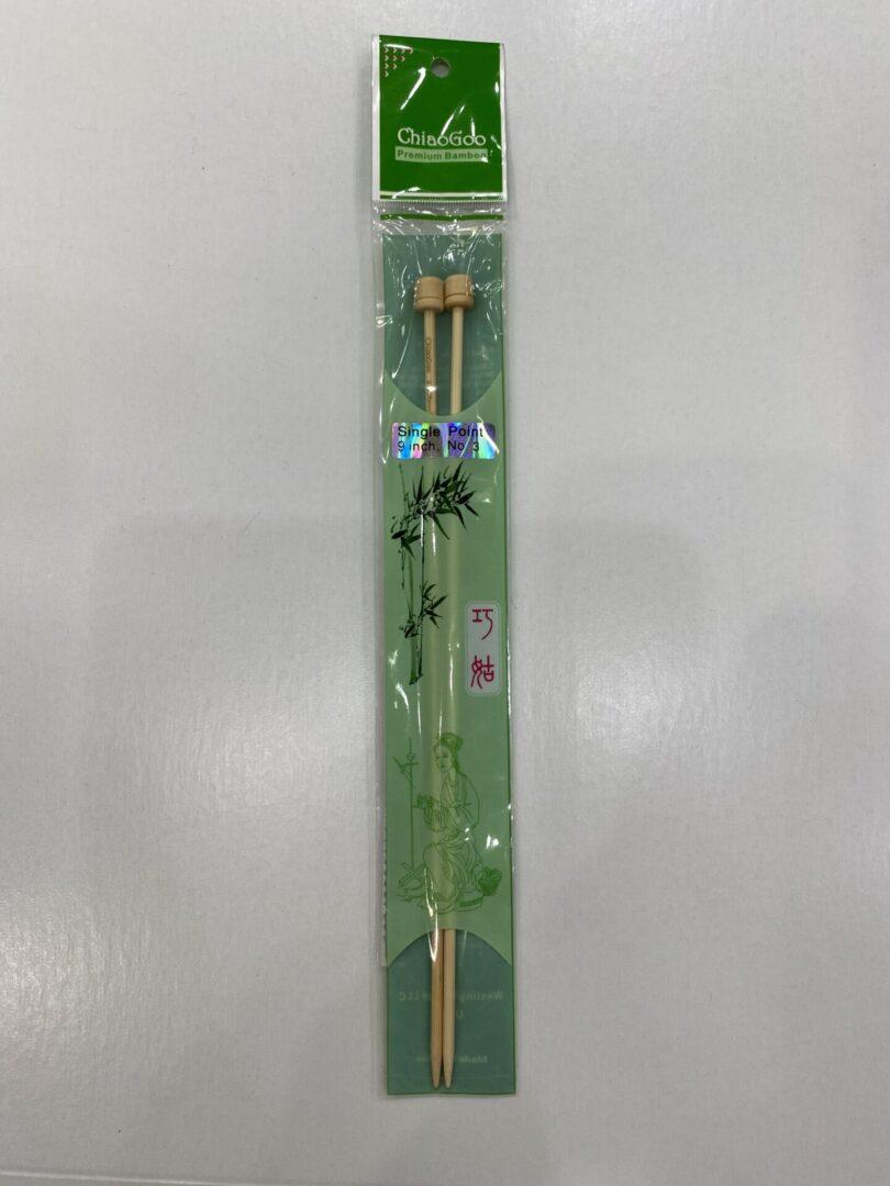 A pair of natural needles