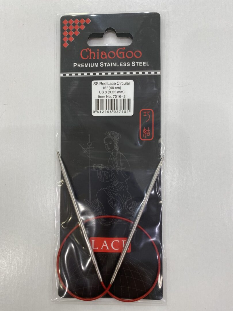 A 32-inch Chiaogoo red circular needles