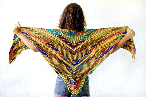 A colorful shawl